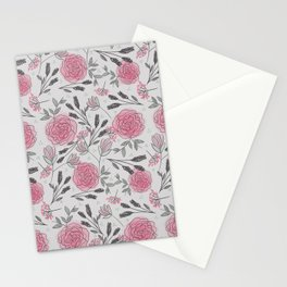 Soft and Sketchy Peonies Stationery Cards