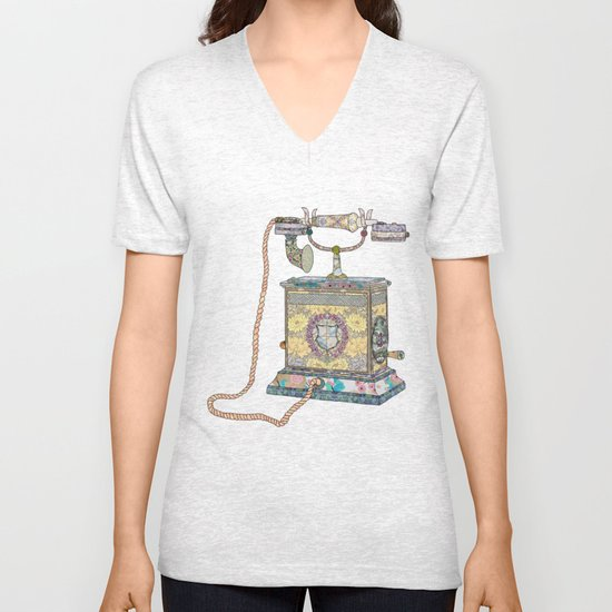 waiting for your call since 1896 Unisex V-Neck