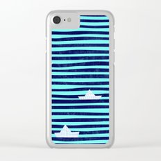 Origaboat blue Clear iPhone Case
