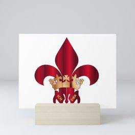 Fleur de Lis Symbol Mini Art Print