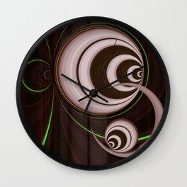 Retro perspective green Wall Clock