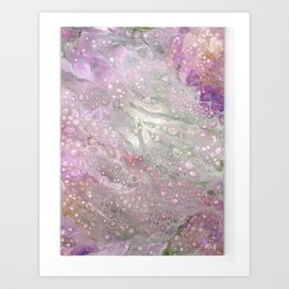 Pink Batik Abstract Acrylic Painting Art Print