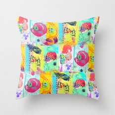 Candy knife fight Throw Pillow