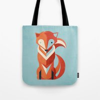 fox Tote Bags featuring Fox by Jay Fleck