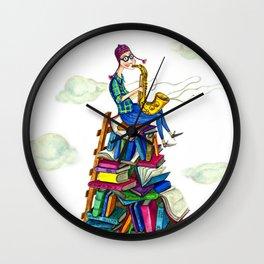 Jazzy books Wall Clock