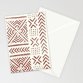 Line Mud Cloth // Ivory & Burgundy Stationery Cards