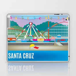 Santa Cruz, California - Skyline Illustration by Loose Petals Laptop & iPad Skin