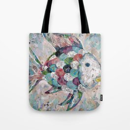 Rainbow Fish Collage Tote Bag