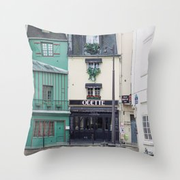 Cafe Odette - Paris Travel Photography Throw Pillow