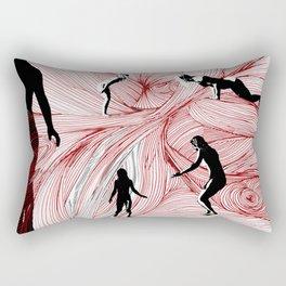 Red Hand Rectangular Pillow