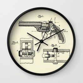 Safety Device for Revolvers-1896 Wall Clock