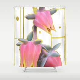Pink Botanic Shower Curtain