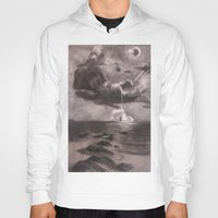 moby Hoodies featuring Moby Dick by Melisa Keyes