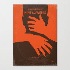 No305 My Nine half Weeks minimal movie poster Canvas Print