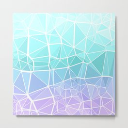 Cyan, Turquoise, and Purple Triangles Metal Print