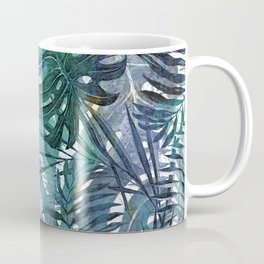 Aloha - Tropical Palm Leaves and Monstera Leaf Garden Coffee Mug