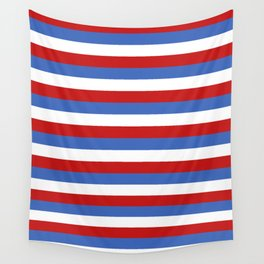 Panama Paraguay flag stripes Wall Tapestry