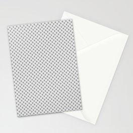 Tiny Paw Prints - Grey on Light Silver Grey Stationery Cards