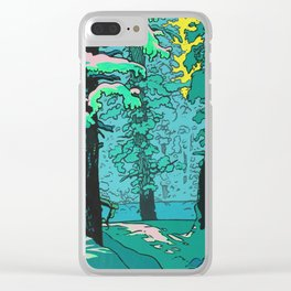 Snow Forest Clear iPhone Case