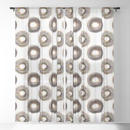 Donut Polka Dot Pattern Sheer Curtain