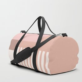 Sol Abstract Geometric Print in Pink Duffle Bag