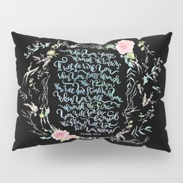 I Will Be With You - Isaiah 43:2 / Black Pillow Sham
