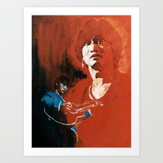 Wong Ka Kui  1962-1993 hong kong rock star Art Print