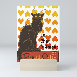 Le Chat Damour De Rodolphe Salis Valentine Cat Mini Art Print