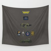 aliens Wall Tapestries featuring Aliens by avoid peril