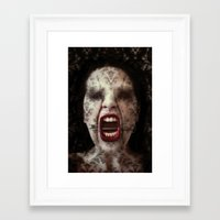 ahs Framed Art Prints featuring AHS by lady amarillis