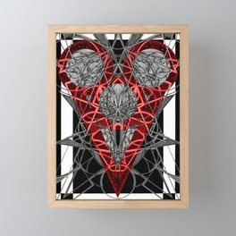 Red Electric Heart Framed Mini Art Print