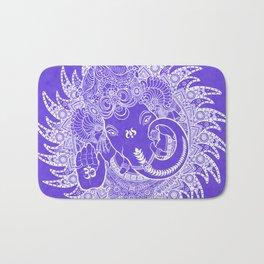 Ganesha Lineart Lilac White Bath Mat