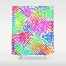 Grid Line Colour Explotion Shower Curtain