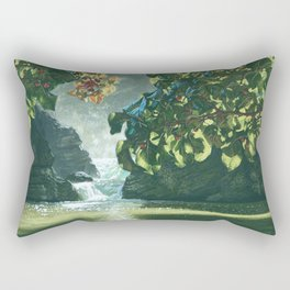 Morning Waterfall Rectangular Pillow