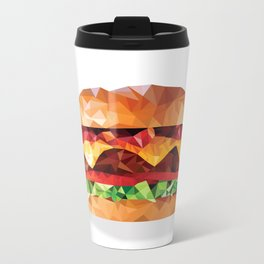 Geometric Bacon Cheeseburger Metal Travel Mug