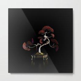 Oriental Fan Tree - Red Metal Print