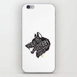 Wolves Do Not Concern Themselves iPhone Skin