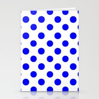 polka dots Stationery Cards featuring Polka Dots (Blue/White) by 10813 Apparel
