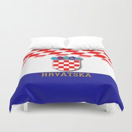 Croatian Flag Pattern EURO 2016 Duvet Cover