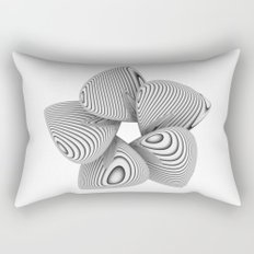 Bio Flower Art Print Rectangular Pillow