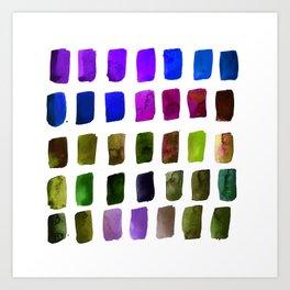 Brushstrokes 1r by Kathy Morton Stanion Art Print