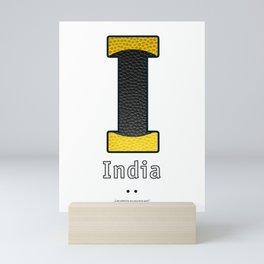 India - Navy Code Mini Art Print