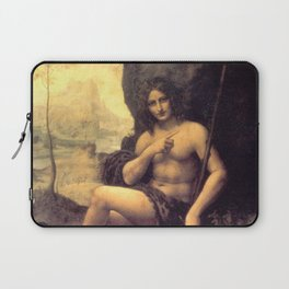 Bacchus - workshop of Leonardo da Vinci Laptop Sleeve