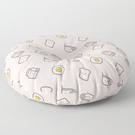 Cute blush pink pastel color funny milk food pattern Floor Pillow