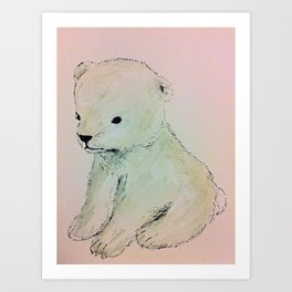 Baby Polar Bear Art Print
