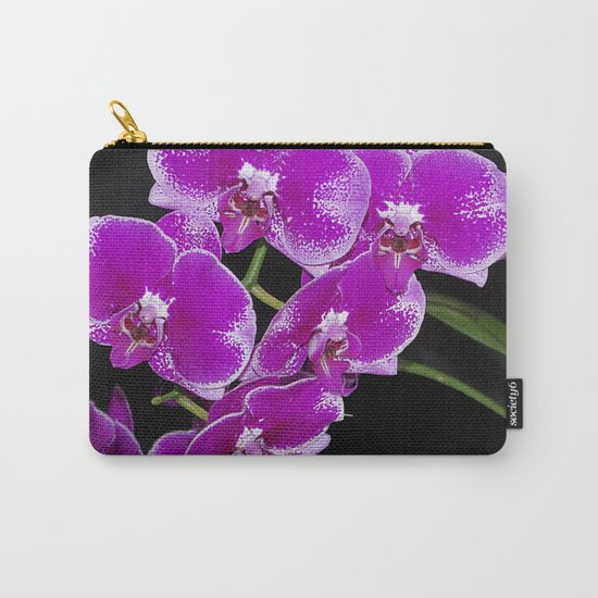 Graceful spray of deep pink orchids Carry-All Pouch