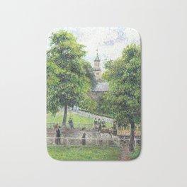 """Camille Pissarro """"Saint Anne's Church at Kew"""" (1892) Bath Mat"""