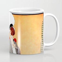 "Art Deco Design ""Fabric Orchard"" Coffee Mug"