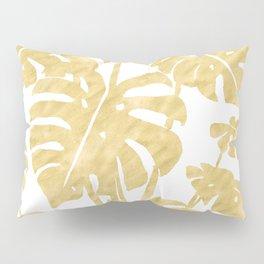 Delicate Monstera Golden #society6 Pillow Sham