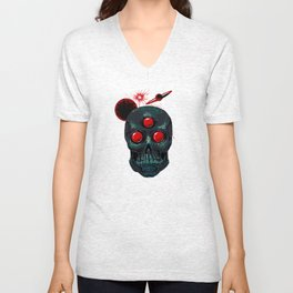 Horror From Beyond Time and Spaaaaaaace! Unisex V-Neck